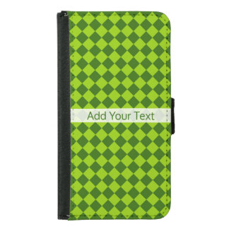 Green Combination Diamond Pattern by STaylor Samsung Galaxy S5 Wallet Case