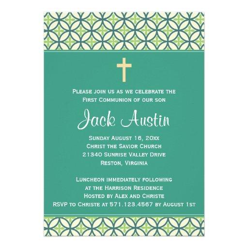 Green Communion Invite/Announcement