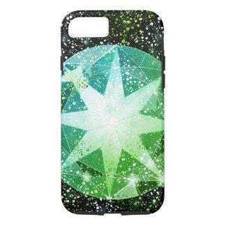 Green Compass Gemstone Rhinestone Gold Sparkle iPhone 7 Case