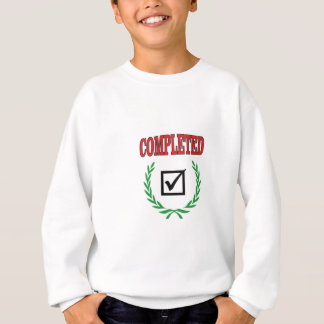 green completed sweatshirt