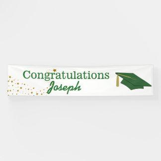 Green Congratulations Graduate Banner