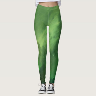 Green Constelations Leggings