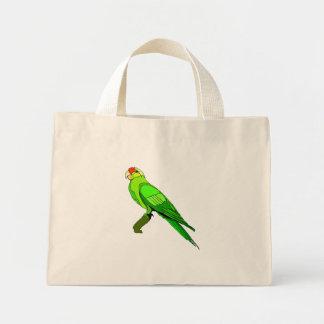 Green Conure Bird Tote Bags
