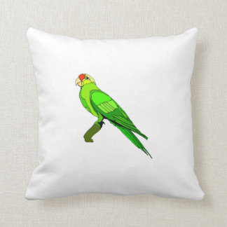 Green Conure Bird Pillows
