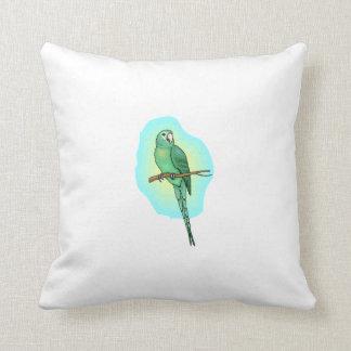 Green Conure Bird Pillow