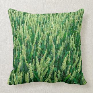 Green corn field cushion for cuddling throw pillows