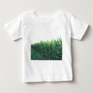 Green corn field on summer day baby T-Shirt