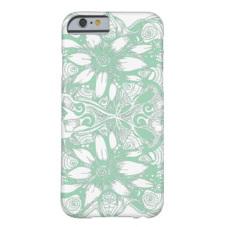 Green Cosmic Flower Explosion Barely There iPhone 6 Case