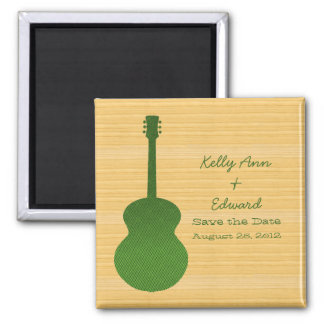 Green Country Guitar Save the Date Magnet