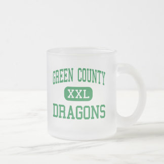 Green County - Dragons - High - Greensburg Frosted Glass Mug