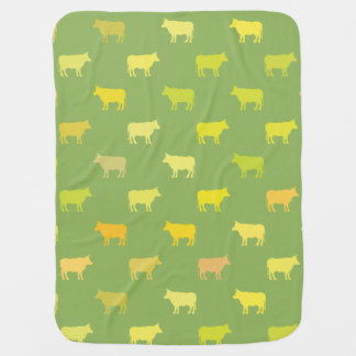 Green Cow Baby Blanket Gender Neutral
