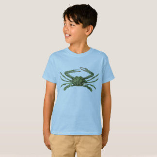 Green Crab Tee for Crab Lovin' Kids