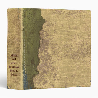 Green Cream Antiqued Scrapbook Photo Album Binder