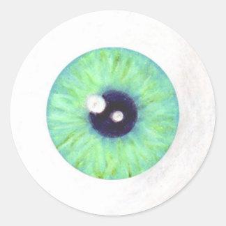 Green Creepy Eyeball Sticker
