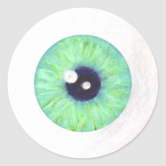 Green Creepy Eyeball Sticker