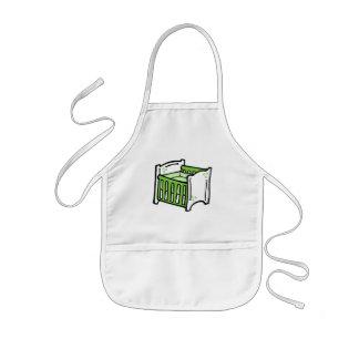 green crib kids apron