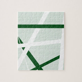 Green Criss Cross Halftone Jigsaw Puzzle