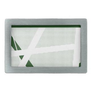 Green Criss Cross Halftone Rectangular Belt Buckles