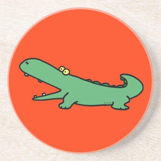 Green crocodile coaster