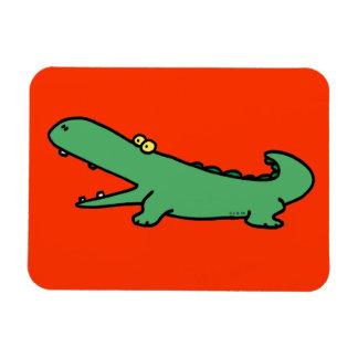 Green crocodile magnet