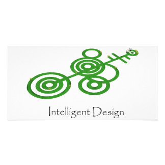 Green Crop Circles - Intelligent Design Custom Photo Card
