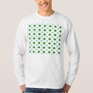 green cross and diamond pattern T-Shirt