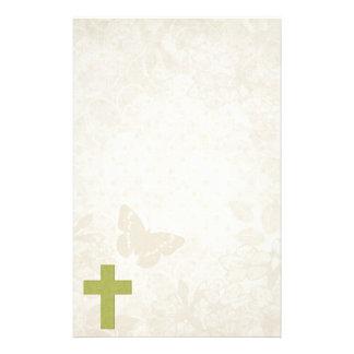 Green Cross Christian Design Customized Stationery