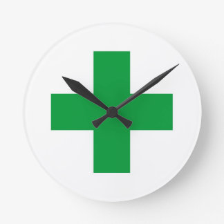 green cross medicine health pharmacy doctor clock