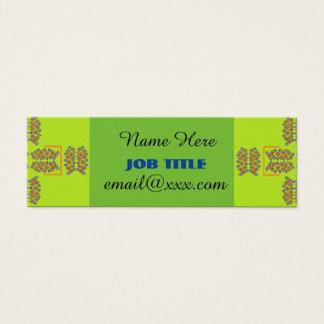 green cross pattern business card