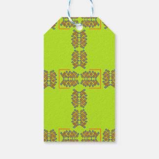 green cross pattern gift tag pack of gift tags