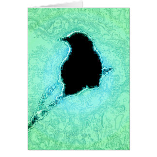 Green Crow Note Card