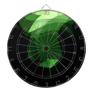Green Crystal Graphic design Dartboard With Darts