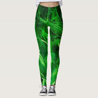 Green Crystal Leggings