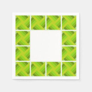 green cuadritos napkin