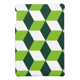 green cube optical illusion case iPad mini case