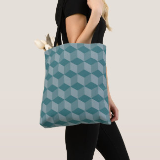 Green Cubes Tote Bag