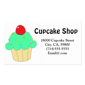 Green Cupcake Customizable Pack Of Standard Business Cards