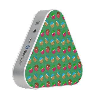 Green cupcake pattern speaker