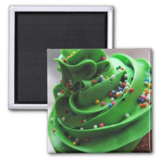Green Cupcake Photograph Magnet