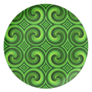 Green Curly pattern Plate