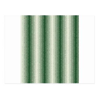 Green Curly Stripes Postcard