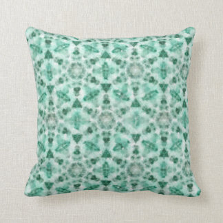 """Green cushion with geometric watercolor painting """""""