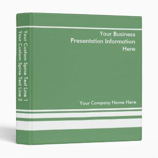 Green Custom Business Presentation Binder