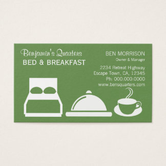 Green Custom Color B&B Bed and Breakfast Business Card