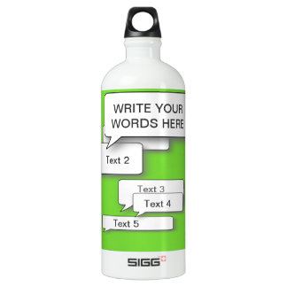 GREEN CUSTOM TEXT BUBBLE WRITE YOUR PERSONAL WORDS