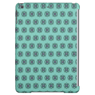 Green cyan flowers pattern case for iPad air
