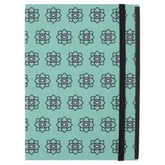 """Green cyan flowers pattern iPad pro 12.9"""" case"""