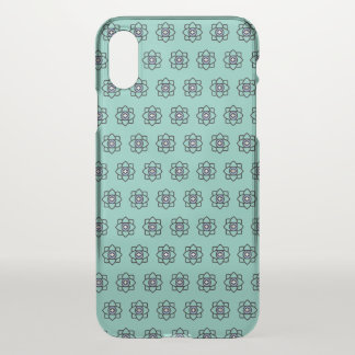 Green cyan flowers pattern iPhone x case