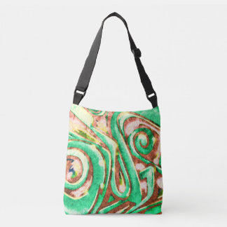 Green Cyclone #25 - All-Over-Print Cross Body Bag