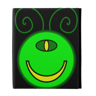 Green Cyclops Monster Face iPad Cases